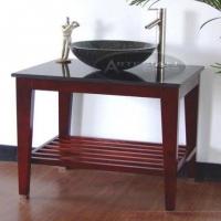 Fredericka cherry bathroom vanity granite pedestal vessel set 37 inch