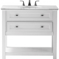 White vanity with one drawer