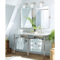 Pottery Barn apothecary double sink