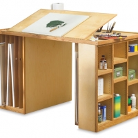 Art table with storage