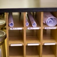 Roll paper storage