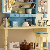 craft-room-in-blue-and-cream