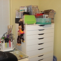 Flat drawer art & craft storage