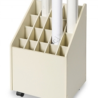 Roll paper storage cart
