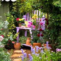 colorful-potting-bench