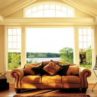 windows with upper shelf