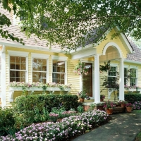 Lovely traditional home in yellow