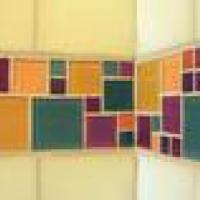 Glass tile border