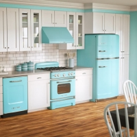 Vintage metal kitchen cabinets