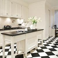 White vintage kitchen cabinets