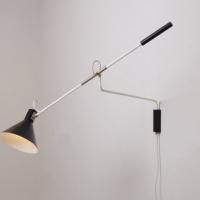 anvia-holland-netherlands-wall-lamp-light-fifties-modern-modernist-lamp-design-black-shade-adjustable