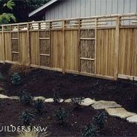 Cedar bamboo combo fence