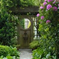 Garden gate wooden oriental