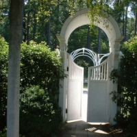 Garden gate white wood