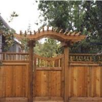 Garden gate trellis gate fence