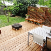 Deck and slat wall