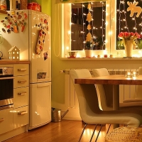 Classy homey kitchen at Christmas