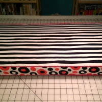Long cushion for storage cubes