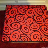 Scroll cushion - red side