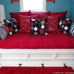 Eleventh pillow added to daybed