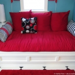 Seventh pillow added to daybed