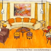 Living Room Design in Perspective