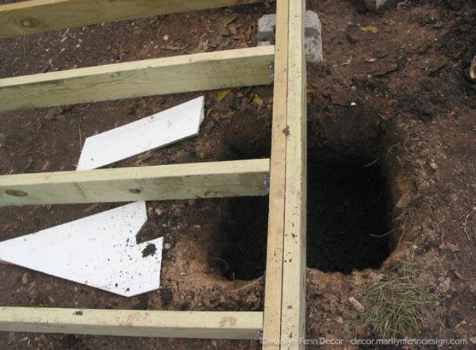 Huge hole in the backyard!