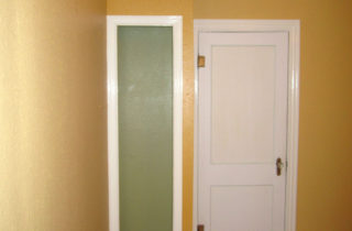A deeper color for the outside of the micro closet, and contrast for the inside, where I'll be putting shelves back in
