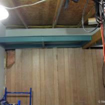 Adding the plywood shelf