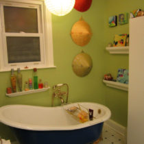 After painting – the tub area