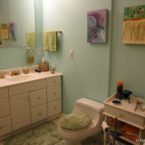 After painting – the sink and toilet area