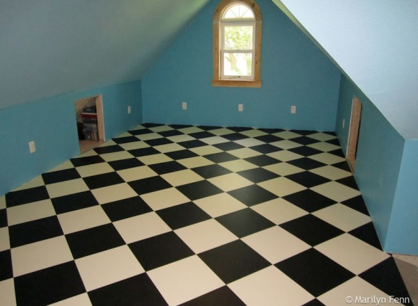 And then the new vinyl flooring