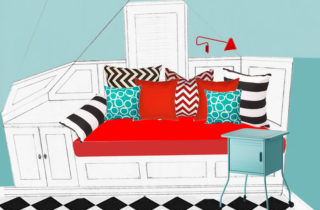Window seat/daybed design
