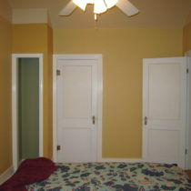 Bedroom after painting – the closet wall