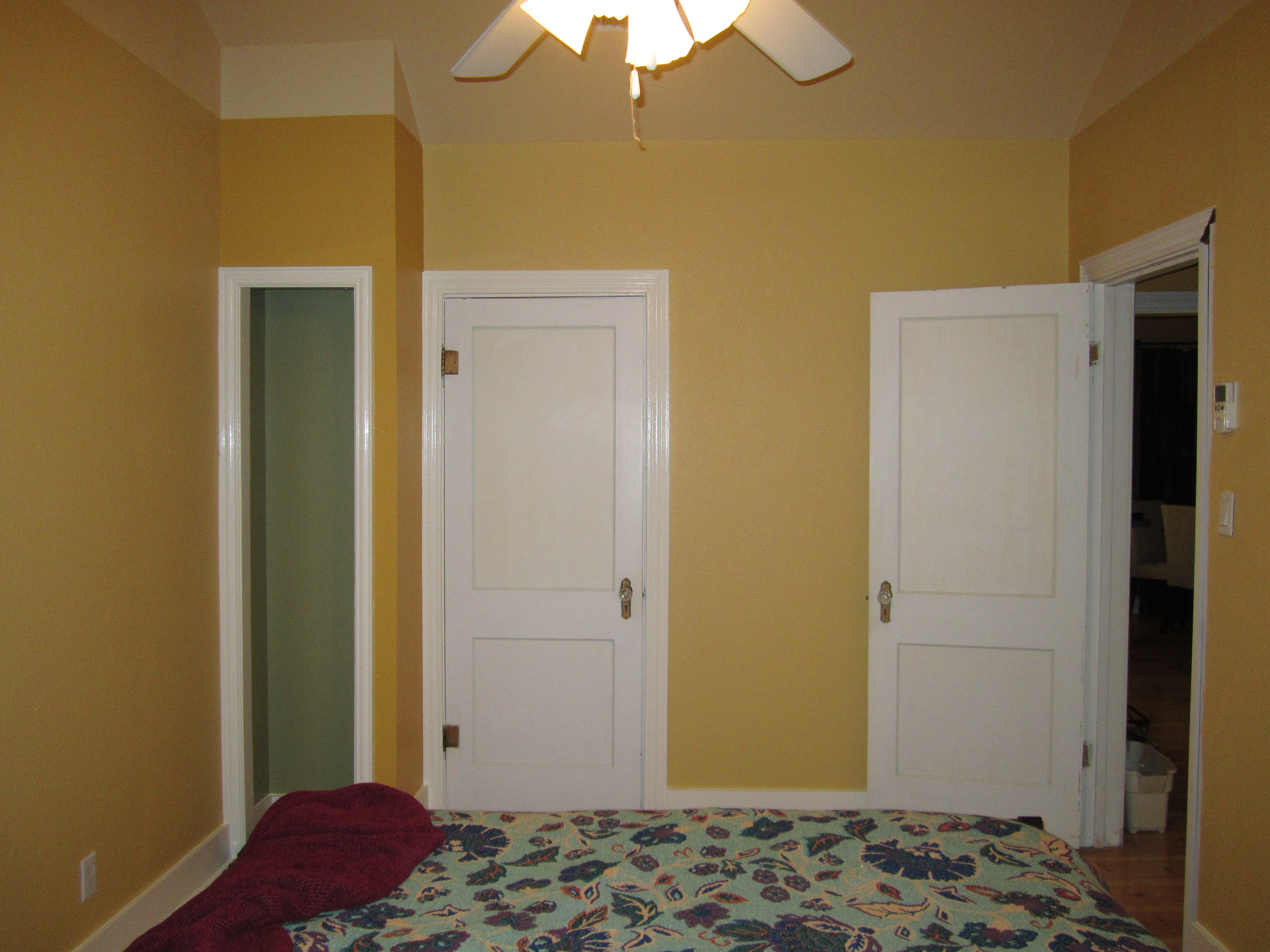 Bedroom after painting - the closet wall