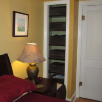 Bedroom after painting – the small closet