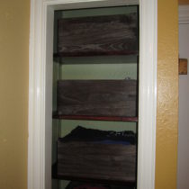 Bedroom after painting – small closet close-up
