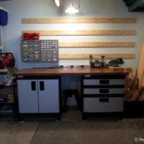 Beginning a slat shelf storage system for the garage