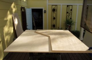 Cutting second desktop from 5×5 Baltic birch plywood