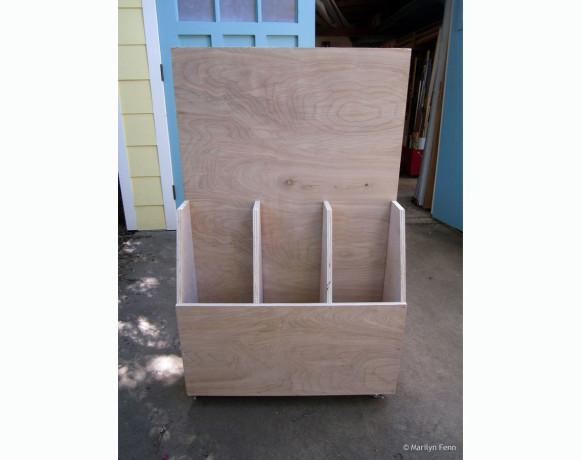 Dimensional lumber storage side