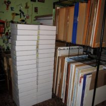 Early paintings and boxes of encaustic paintings