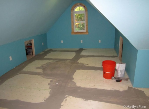 Floor underlayment went in this summer, 3 years after we last had any work done up there