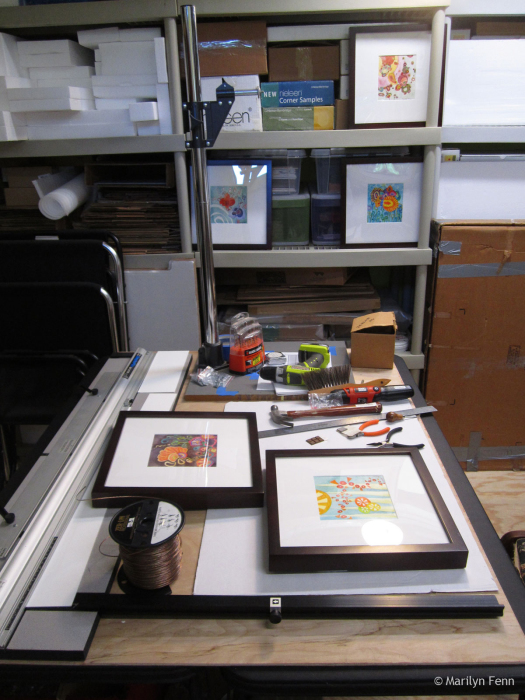 Framing some small watercolors