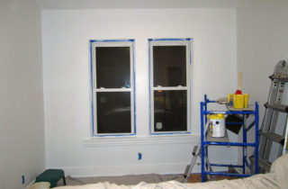 Got one wall and the window trim primed