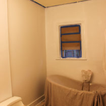 Got the ceiling primed and painted and all the walls primed!
