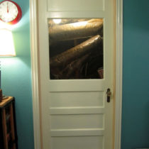 Almost done casing the door — ran out of casing.  :(