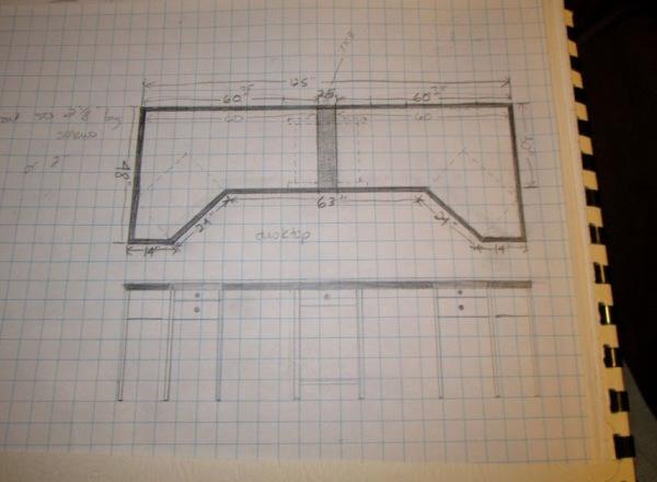 Initial design for desktop