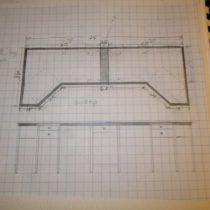 Initial sketch of desktop and cabinet design
