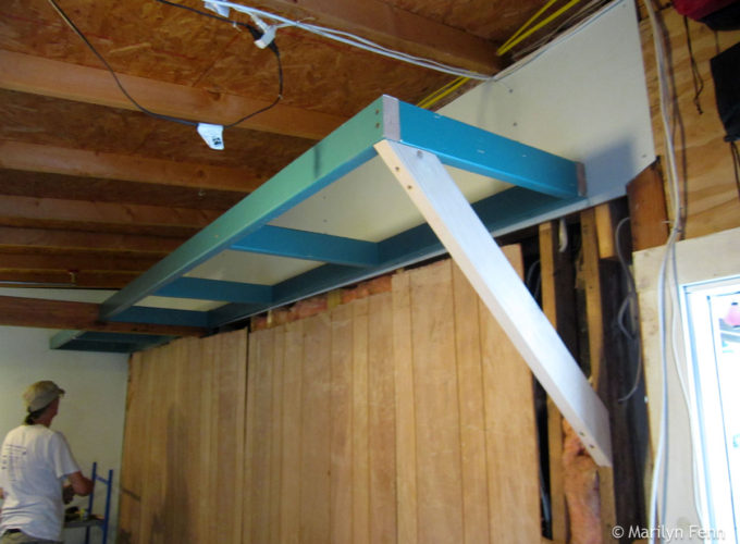 Installing the frame – long side