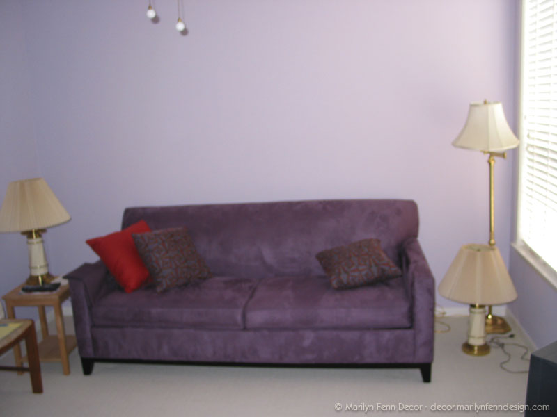 New sofa and pillows